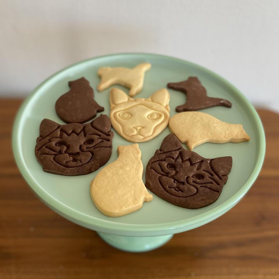 Boulangerie Towaieとポンポンキャットのコラボ猫型クッキー