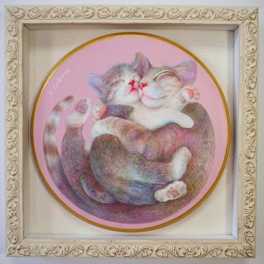 猫のフレスコ画「はぐねこ」 by 瑞慶覧かおり