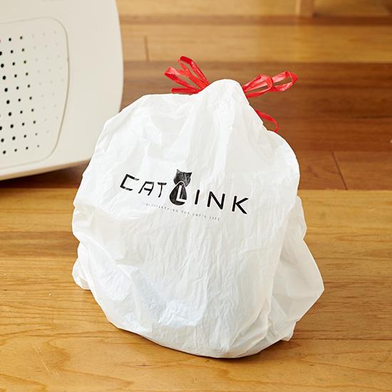 紐を結ぶだけで捨てられる汚物入れのビニール袋 by 全自動猫トイレ CAT LINK(キャットリンク)