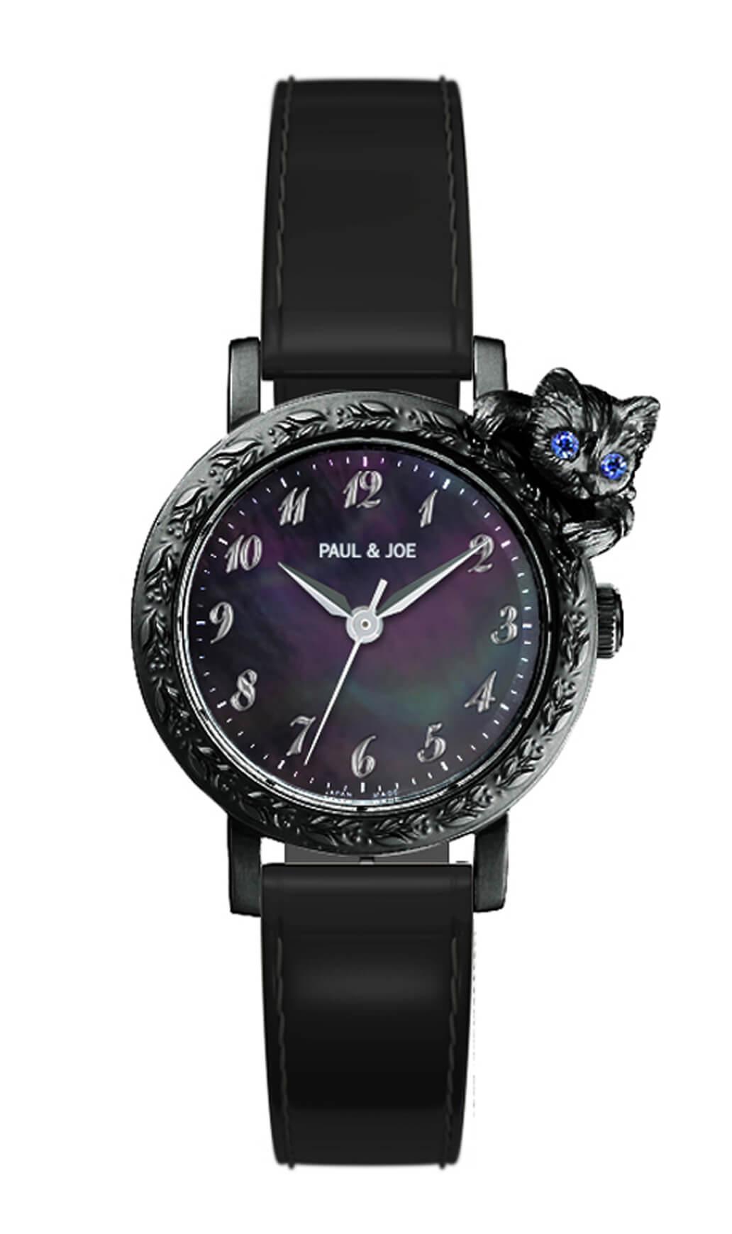 Timeless Cat (タイムレスキャット)の新作腕時計ブラックカラー by PAUL & JOE(ポールアンドジョー)