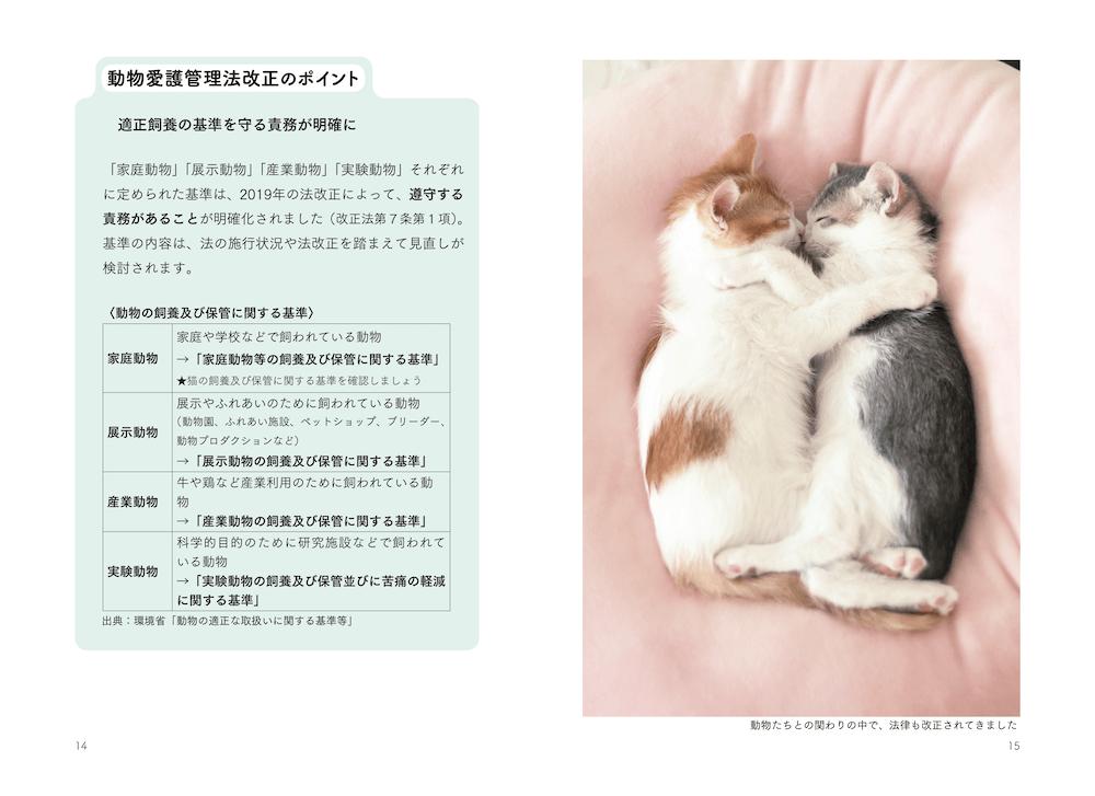 改正動物愛護管理法のポイント解説ページ (本文イメージ)