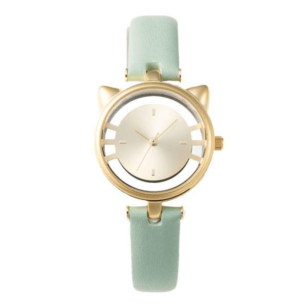 猫型スケルトン腕時計のミントグリーンカラー(ESL081W2) by GRANDEUR(マルゼキ)