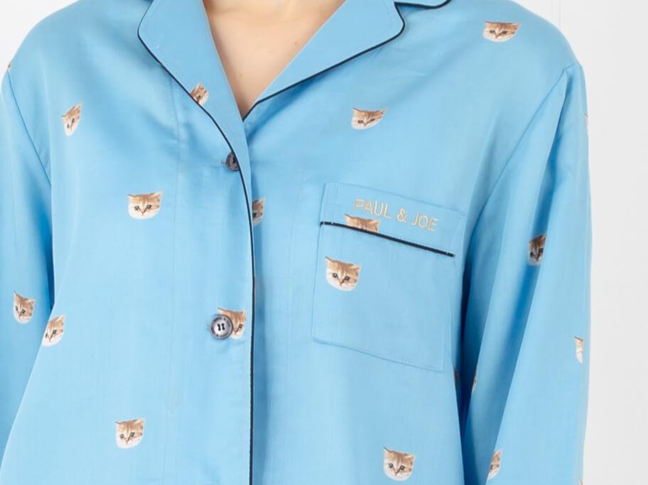 ヌネット ロングスリーブシャツ 胸ポケットの「PAUL & JOE」ロゴ刺繍
