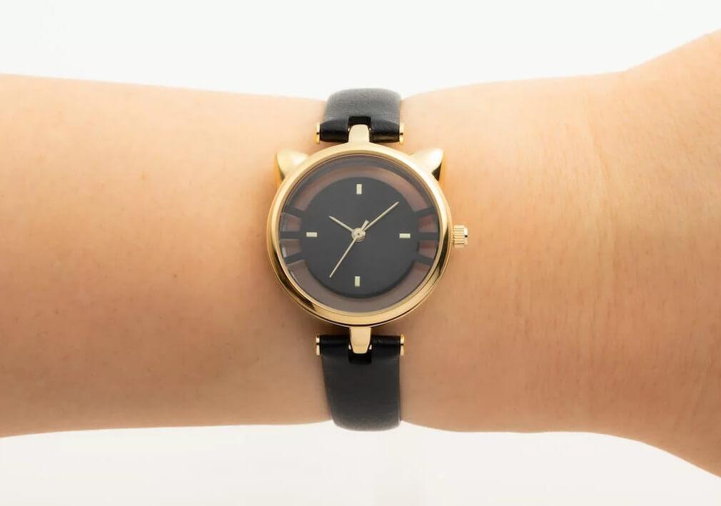 猫型スケルトン腕時計のブラックカラー(ESL081W3) by GRANDEUR(マルゼキ)
