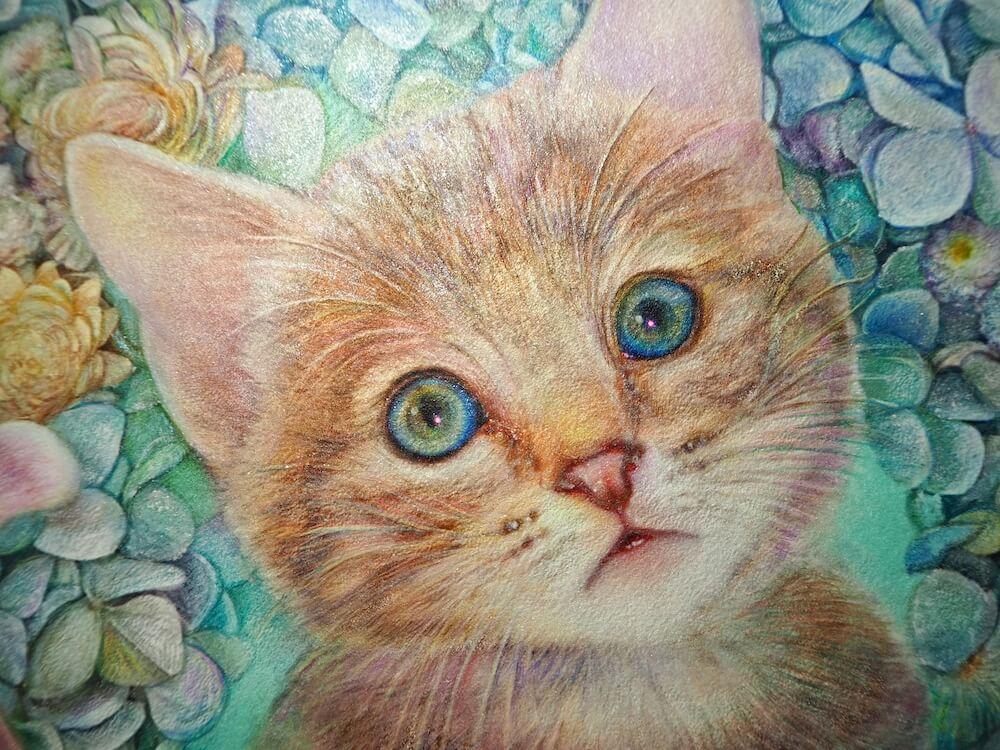 猫のフレスコ画「エメラルドの瞳」 by 瑞慶覧かおり