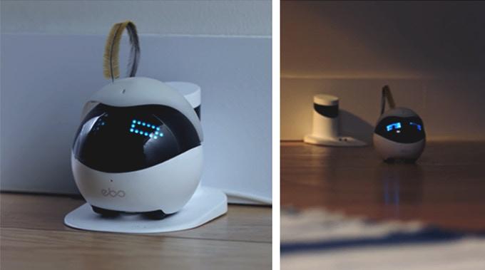 猫用スマートロボット「Ebo(イーボ)」の充電イメージ