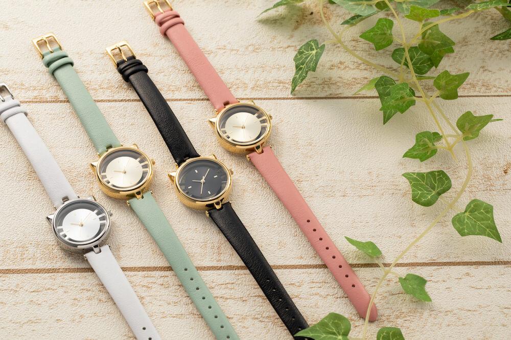 猫型スケルトン腕時計の(ESL081)の全4カラー by GRANDEUR(マルゼキ)