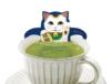 招き猫も緑茶風呂でリラックス♪ 人気のネコ型ティーバッグシリーズから初の和風バージョンが登場
