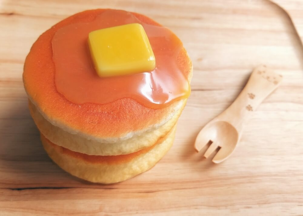 ホットケーキのスクイーズ