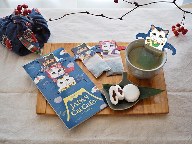 ネコ型紅茶ティーバッグ「キャットカフェ」シリーズの最新作「ジャパンキャットカフェ(JAPAN Cat Cafe)」