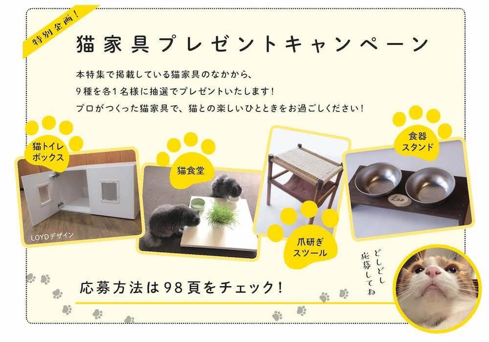 プロがDIYで作った猫家具のプレゼントページ by 建築知識2020年5月号