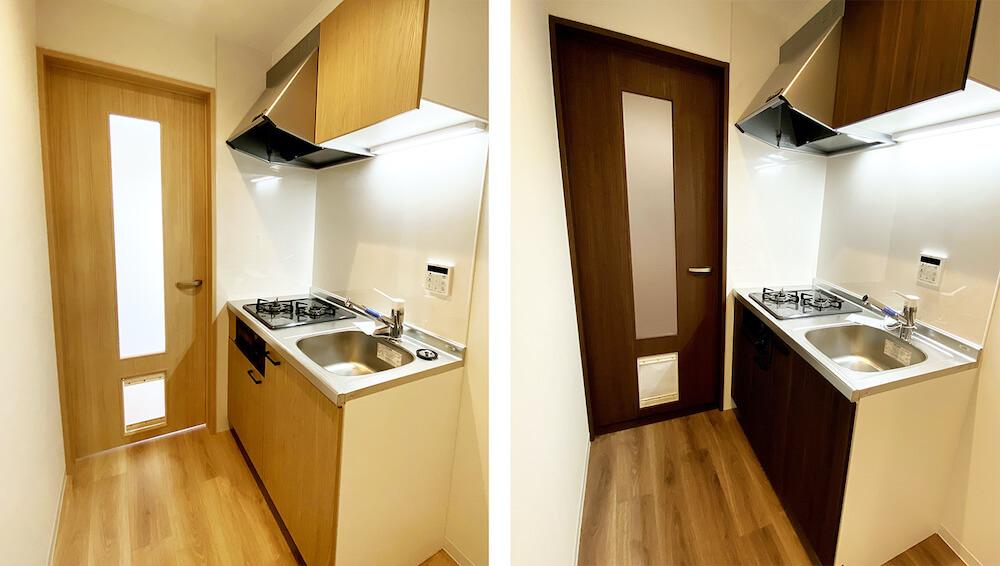 猫と暮らす賃貸住宅「ワコーレヴィアーノ垂水城が山 猫の家」のキッチン