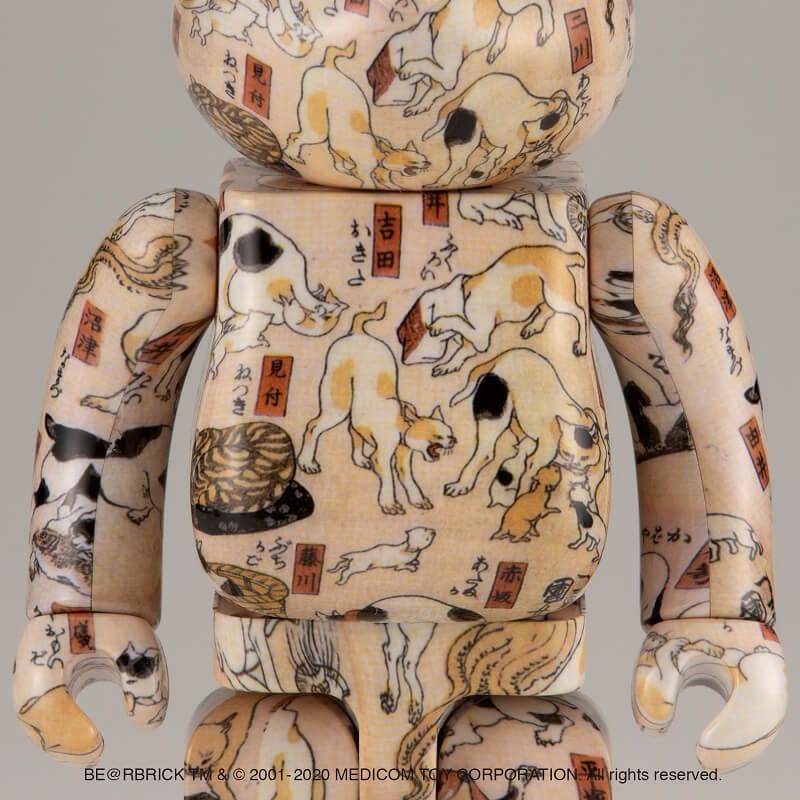 歌川国芳の浮世絵「猫飼好五十三疋」をモチーフにしたベアブリック(BE@RBRICK)の拡大イメージ