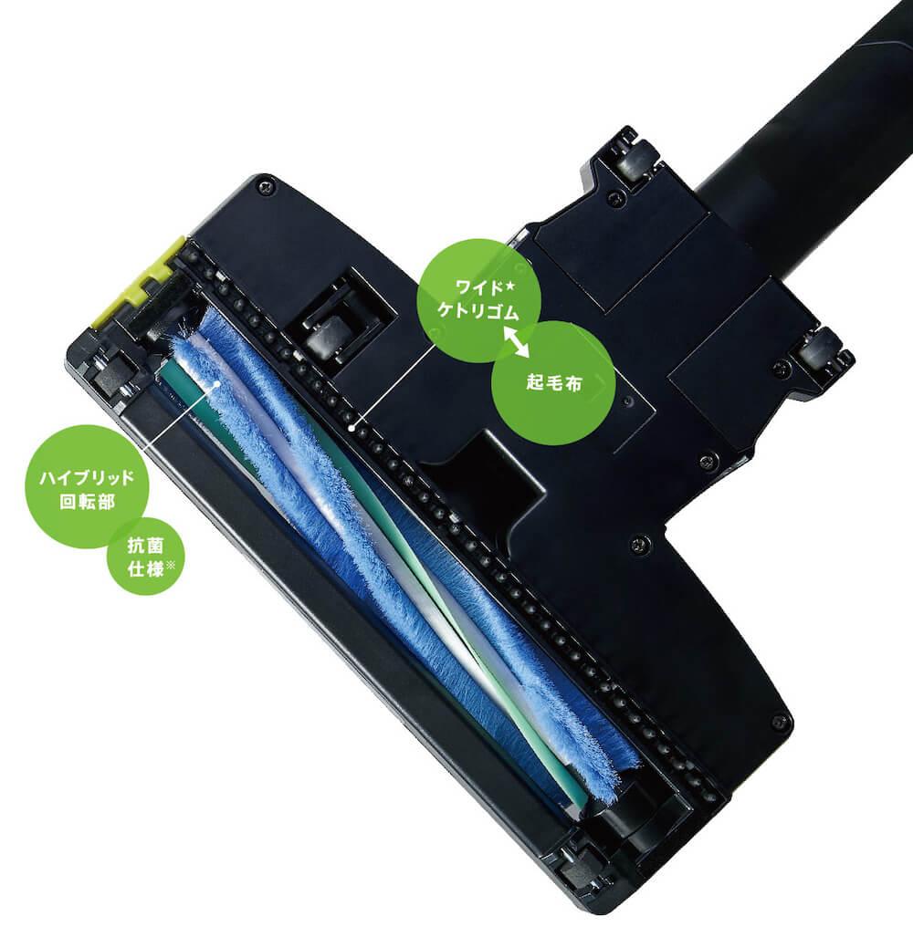 コードレススティッククリーナー「AQC-HF500」のノズル部分