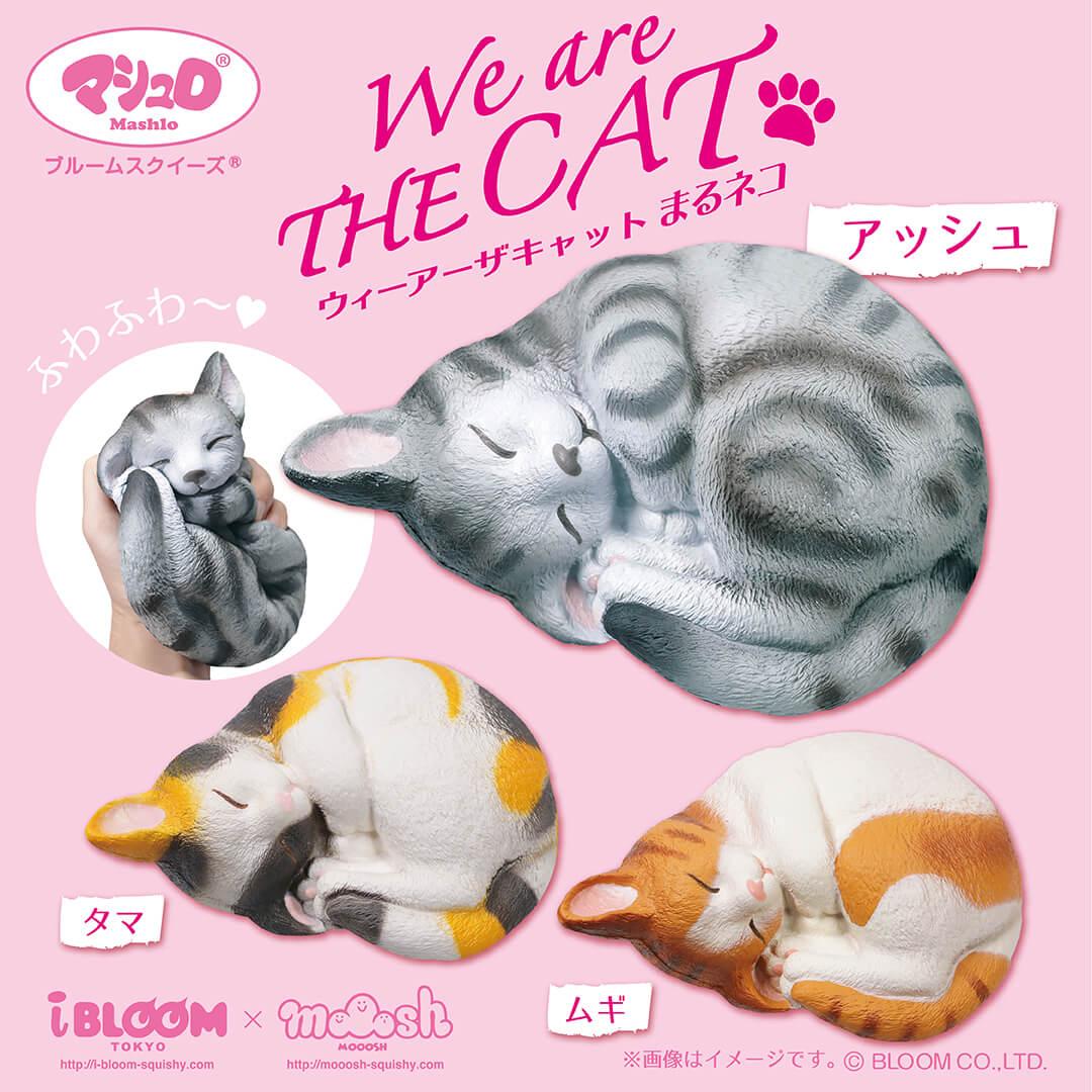 猫のスクイーズ「ウィーアーザキャット(まるネコ)」 by BLOOM