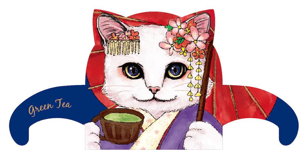 ジャパンキャットカフェ(JAPAN Cat Cafe)の舞妓バージョン「猫の名前は美々」