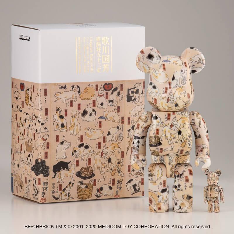 歌川国芳の浮世絵「猫飼好五十三疋」をモチーフにしたベアブリック(BE@RBRICK)