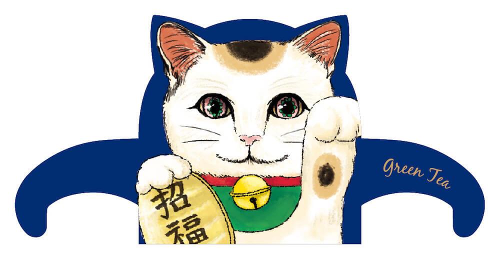 ジャパンキャットカフェ(JAPAN Cat Cafe)の招き猫バージョン「猫の名前は福」
