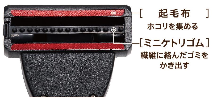 コードレス掃除機「AQC-HF500」のペット用ノズル「ミニケトリノズル」