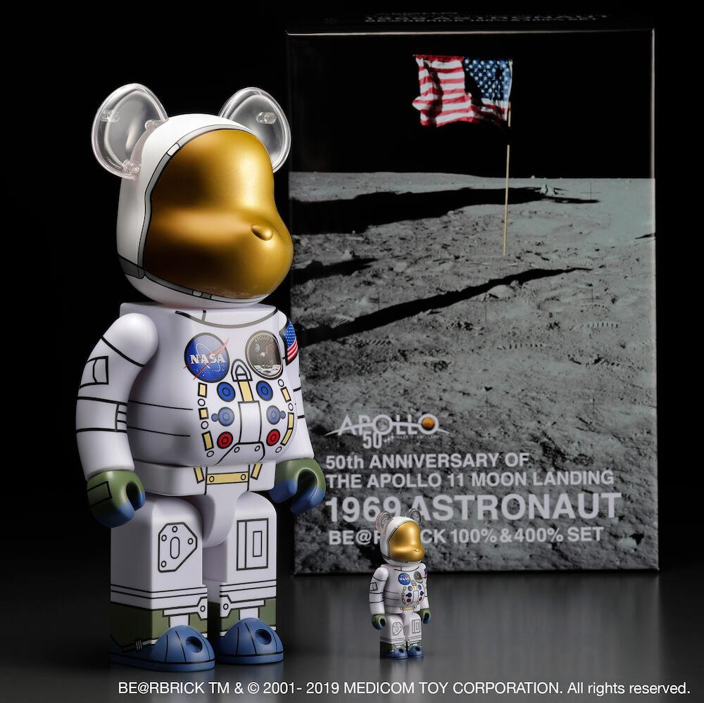 NASAが監修した宇宙服をモチーフにしたベアブリック「1969 ASTRONAUT BE@RBRICK」
