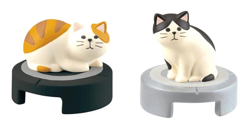 猫の「掃除機型クリップホルダー」ラインナップ、トラ猫&ハチワレバージョン