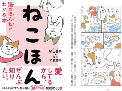 猫がケンカでお腹を見せるのには意外な理由が…!100の疑問にQ&Aで解説する「ねこほん」