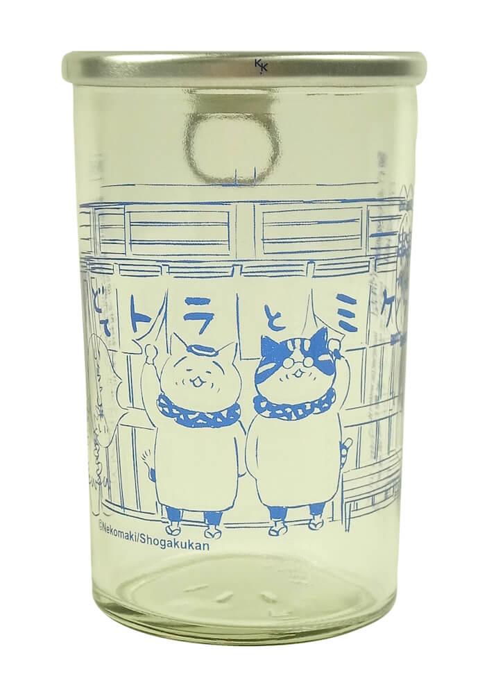 猫マンガ「トラとミケ」のイラストがデザインされた「純米酒 180ml(ワンカップ)」