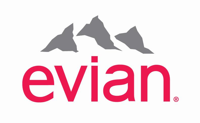 ナチュラルミネラルウォーター「エビアン」のブランドロゴ