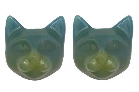 ネコ型の手作り石鹸セット「ツクレルネコキット(No.005)」の完成品イメージ by 9.kyuu