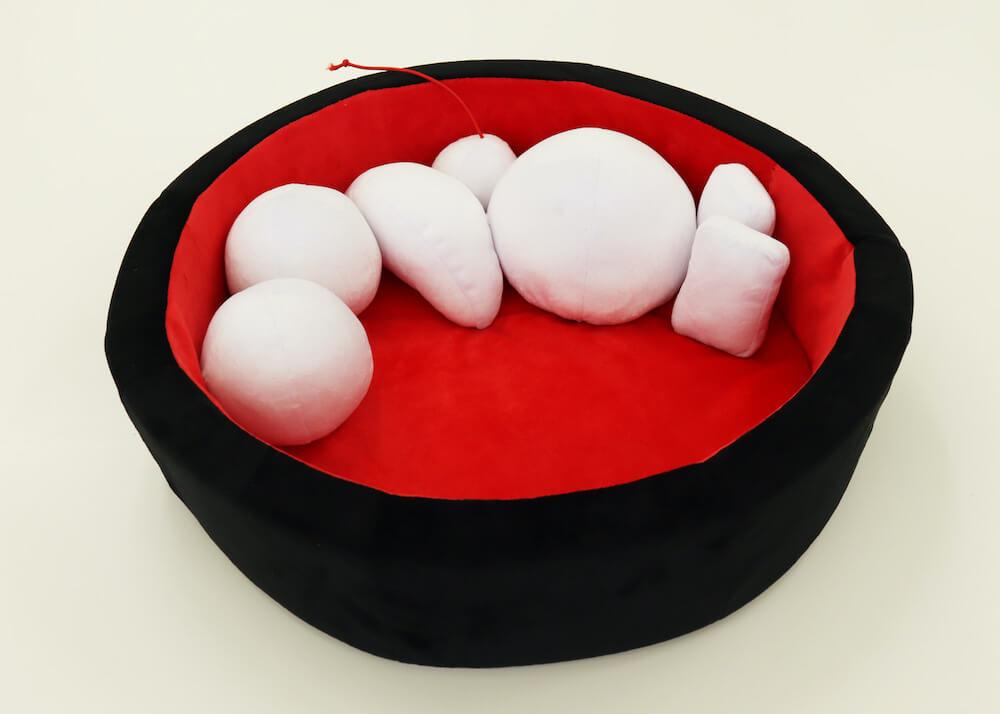あんみつをモチーフにした猫用ベッドの開発バージョン2