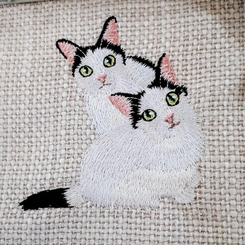 リアル猫刺繍 by ハンドメイド作家のコイトネコ