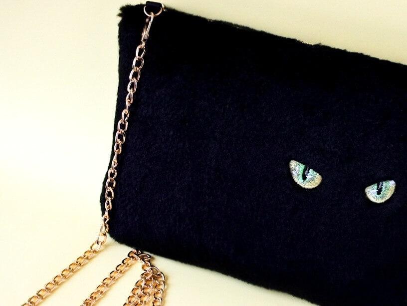 黒猫ショルダーバッグ by ハンドメイド作家のコイトネコ