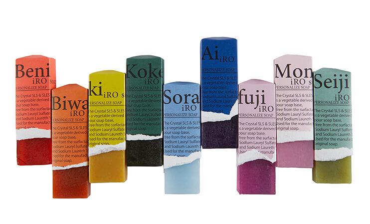 9.kyuuの天然色付き石鹸、全9種