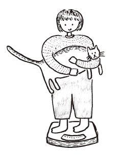 フォトエッセイ『3匹のネコとの思い出』に描かれている猫のイラスト