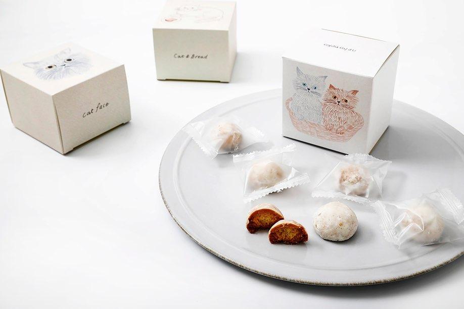 猫イラストがパッケージにデザインされた「ねこねこクッキー」ミルク味 by ねこねこ食パン