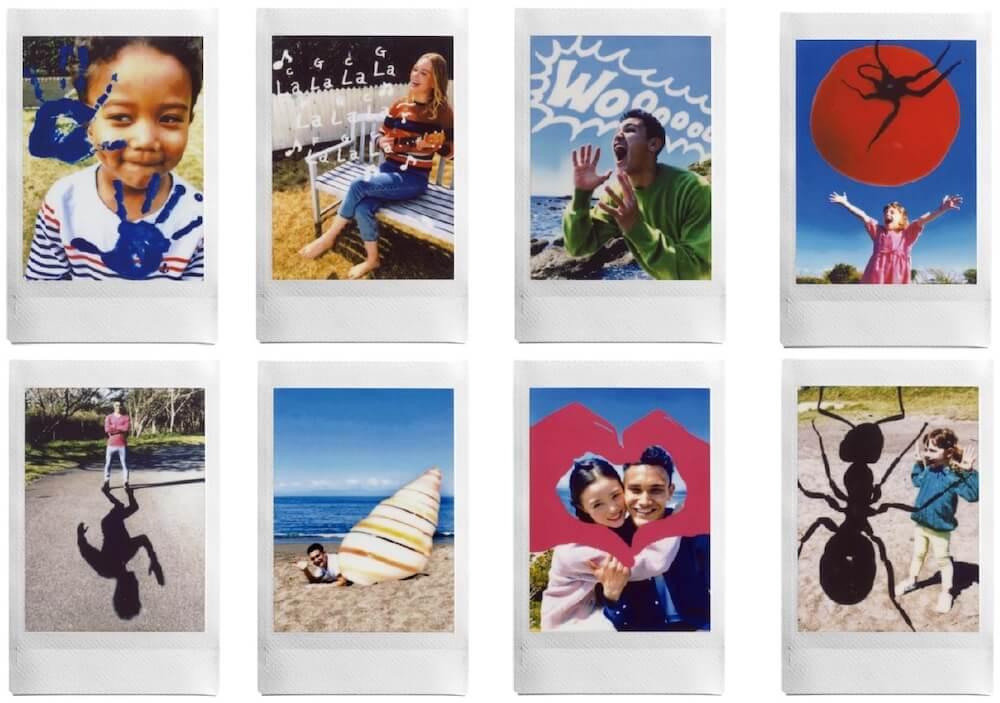 新機能「Sketch, edit & print」で合成した写真イメージ例 by instax mini Link