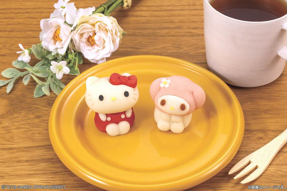 キャラクター和菓子の食べマス「ハローキティ&マイメロディ」製品イメージ