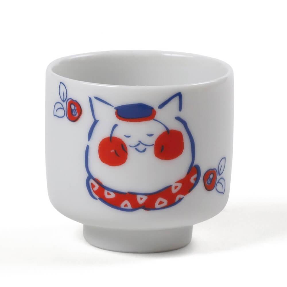 猫マンガ・トラとミケの「ミケ」のイラストがデザインされた「おちょこ」
