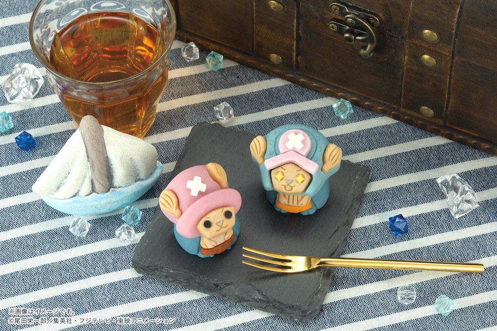 キャラクター和菓子の食べマス「ワンピース・チョッパー2年前&2年後」製品イメージ