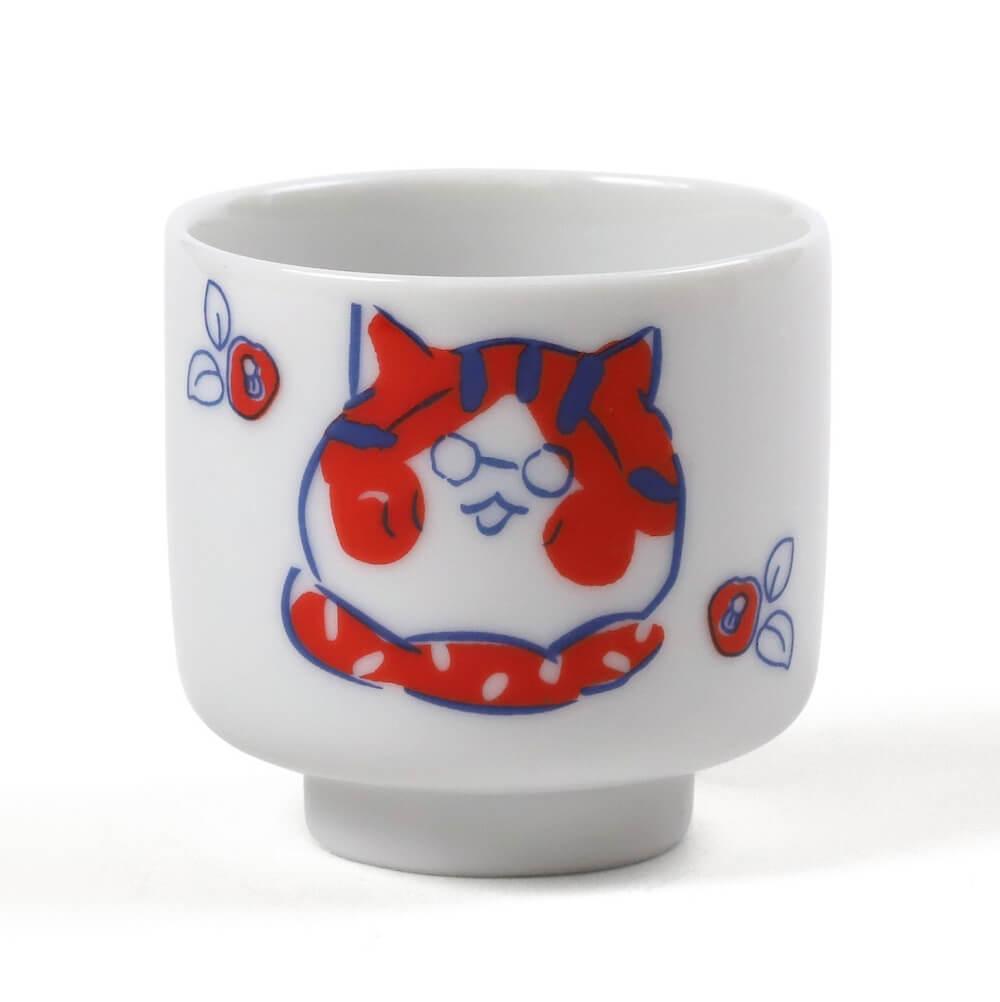 猫マンガ・トラとミケの「トラ」のイラストがデザインされた「おちょこ」