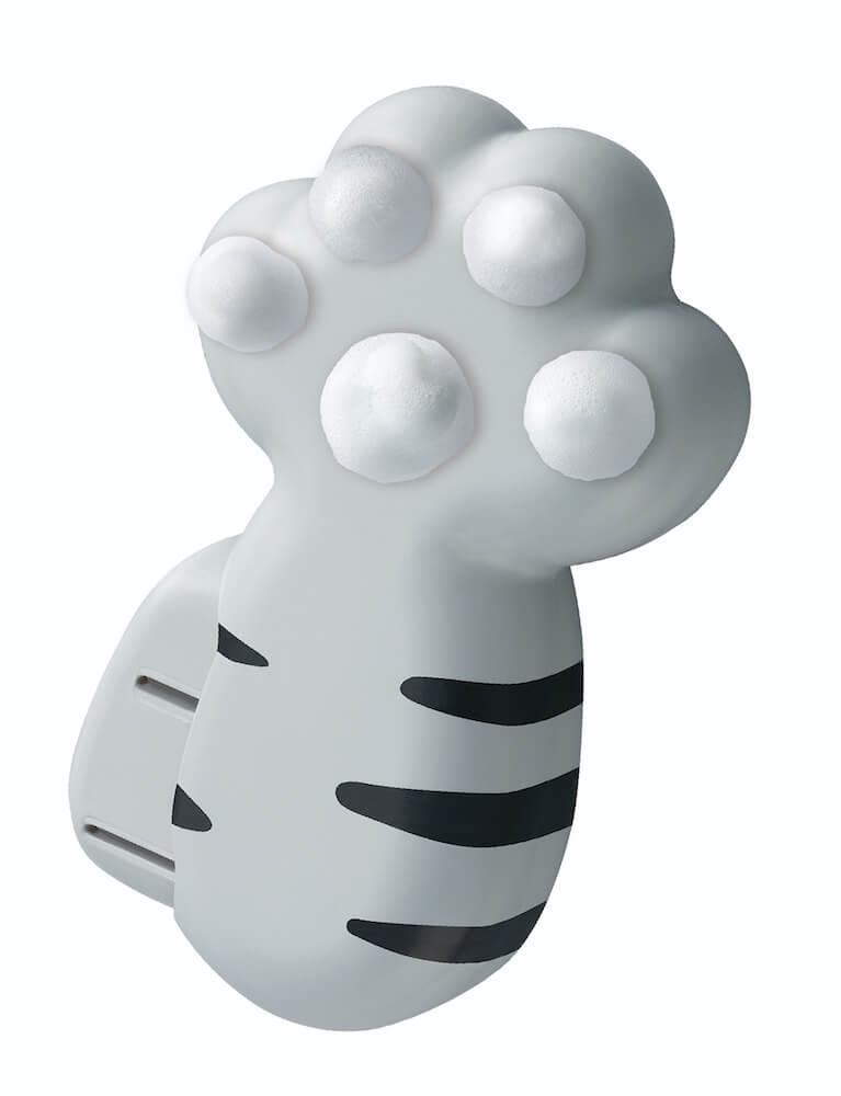 猫の手の形をしたハンドソープディスペンサー「泡にゃん」アメリカンショートヘアデザイン