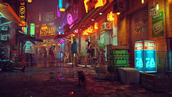 ゲームの舞台となる忘れ去られてしまったサイバーシティ by 猫のアドベンチャーゲーム「Stray(ストレイ)」