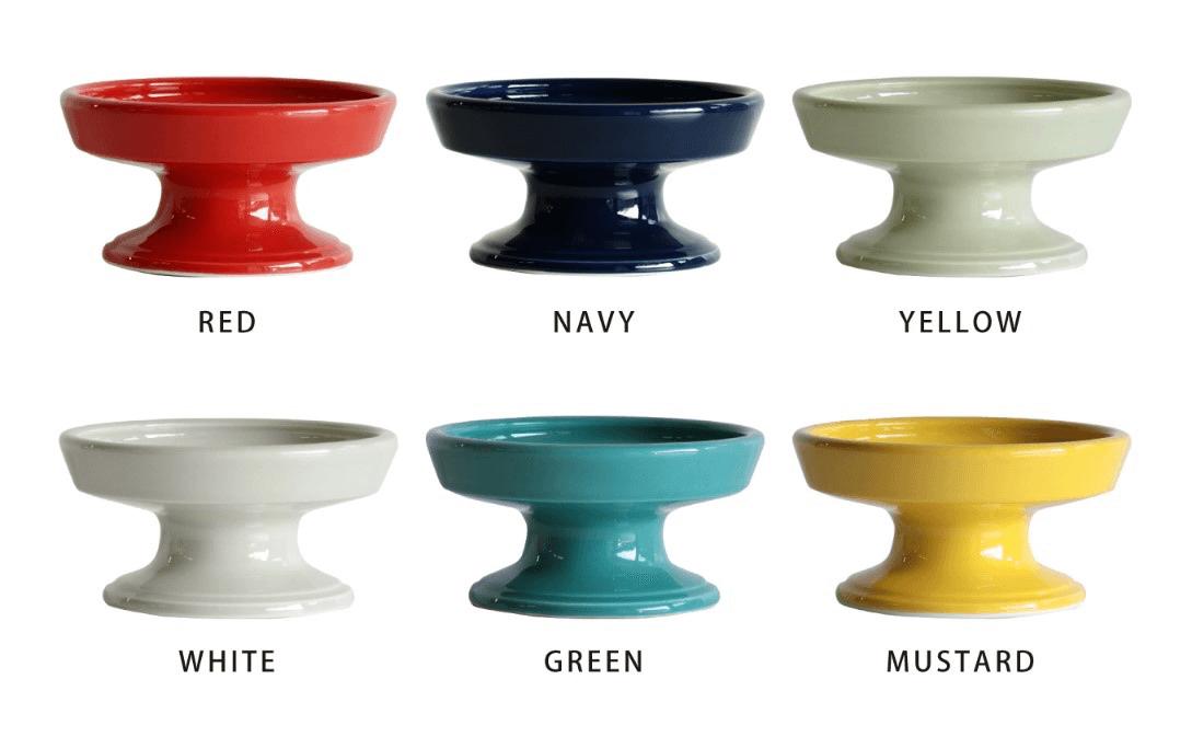猫用のフードボウル「HASAMI season1/16cm FOOD BOWL」全6色のカラーイメージ