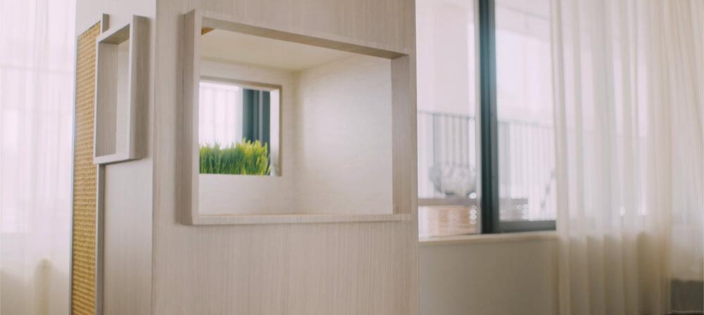 猫タワマンの2階にあるラウンジスペース全体イメージ