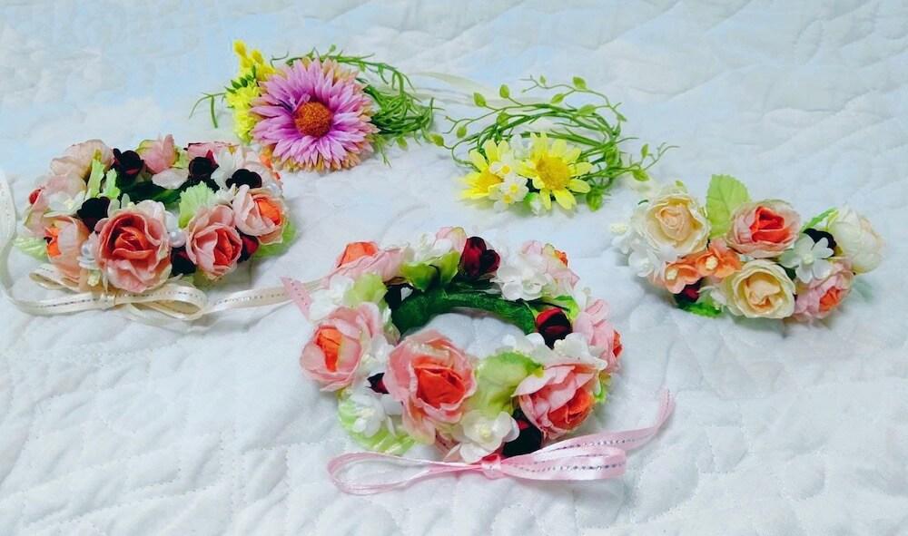 猫雑貨作家グループ「neko holic」による花の雑貨