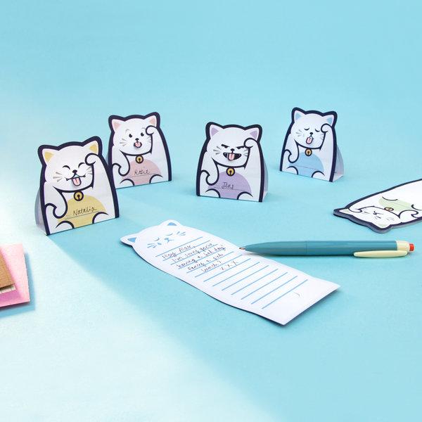 猫モチーフのメモパッド「Lucky Cat Message Pads」全5種類のデザイン by SUCK UK