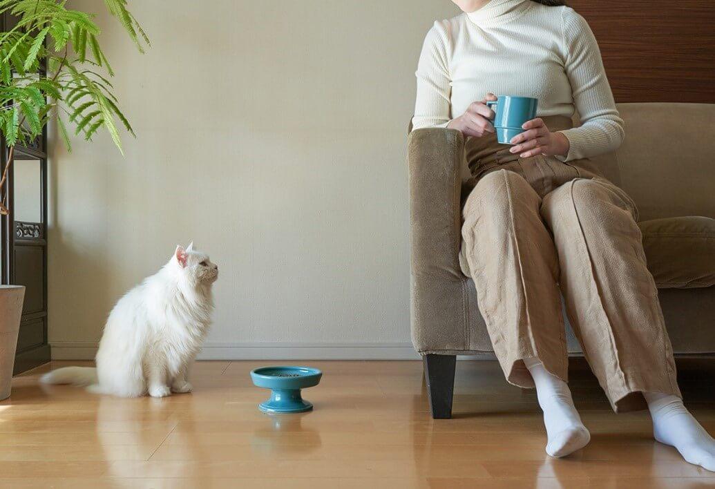 猫用のフードボウル「HASAMI season1/16cm FOOD BOWL」製品イメージ by マルヒロ