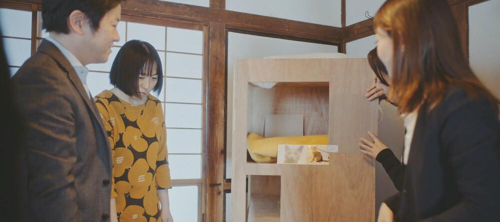 猫専用のタワーマンション「猫タワマン」の制作風景
