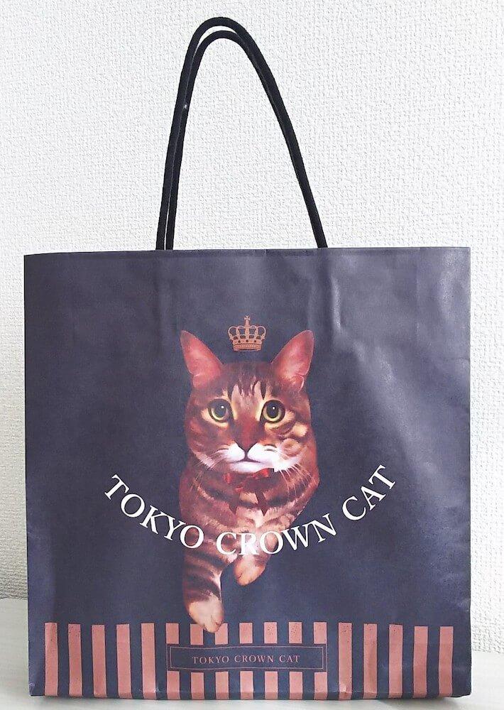 猫がデザインされたTOKYO CROWN CAT(トウキョウ クラウン キャット)の専用手提げ袋
