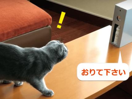猫のテーブル&キッチン対策に!水を噴霧して乗ってダメな場所を教える装置「マニャーdeシュ」
